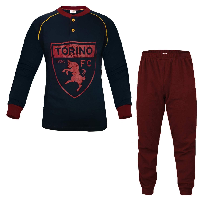 FC TORINO Pigiama Ragazzo in Caldo Cotone Prodotto Ufficiale Art TO15083