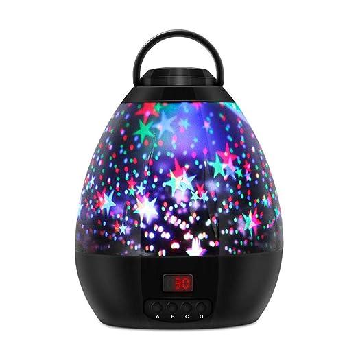 Lámpara de mesa Romántico de la estrella de proyector Night Light ...