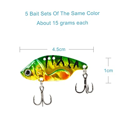 50pcs Treble Hook Green Feather Fishing Hooks Minnow Fishing Lure Bass Jig baits