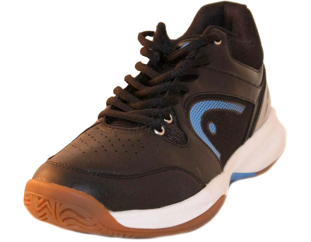 HEAD Men's Sonic 2000 MID Racquetball/Squash Indoor Court Shoes (Non-Marking) (Black/Blue) 7.0 (D) US