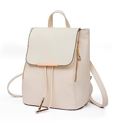 KEERADS 2Pcs Fashion Women Girls Leather Rucksack Backpack School Shoulder  Bag Clutch Bag (Beige): Amazon.co.uk: Shoes & Bags
