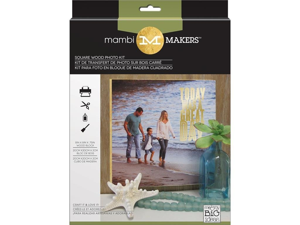 Me & My Big Ideas MAMMKM.02 Kits Photo Square Wood, Medium