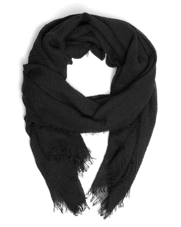 ImiLoa basic Tuch, Schwarz, Sommer Tuch, leichtes Tuch, Strand tuch, leichter Schal