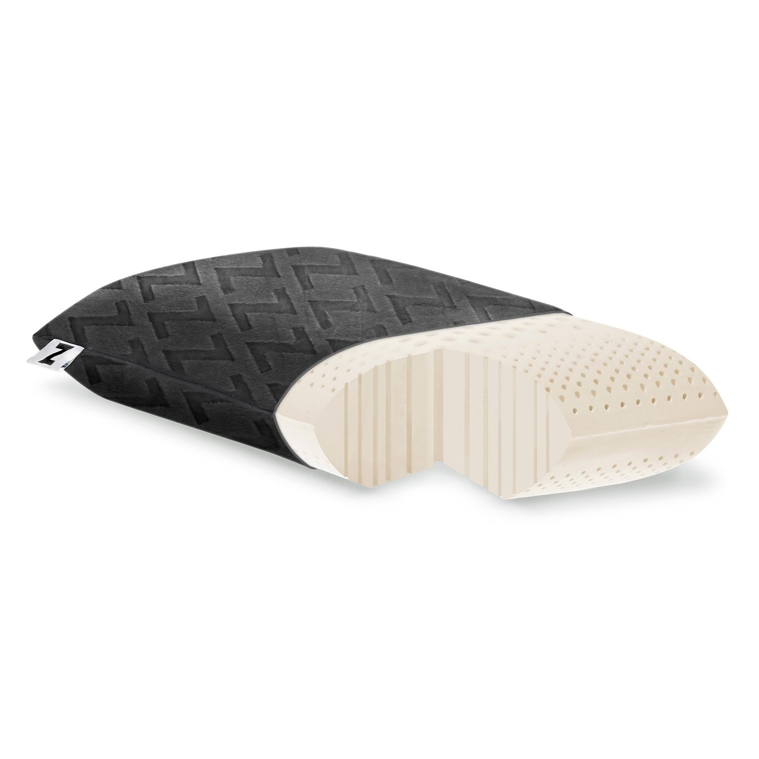 MALOUF Z by Travel Zoned Dough Memory Foam Pillow Removable Rayon from Bamboo Velour Cover 5-Year Warranty CVB Inc ZZTRHPZD