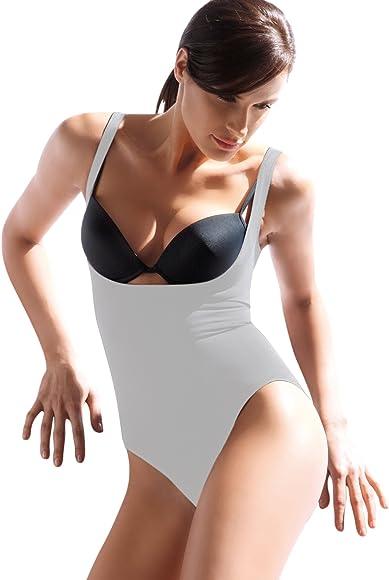 SENSI Body Damen Figurformend Nahtlos Breite Schulterriemen Made in Italy