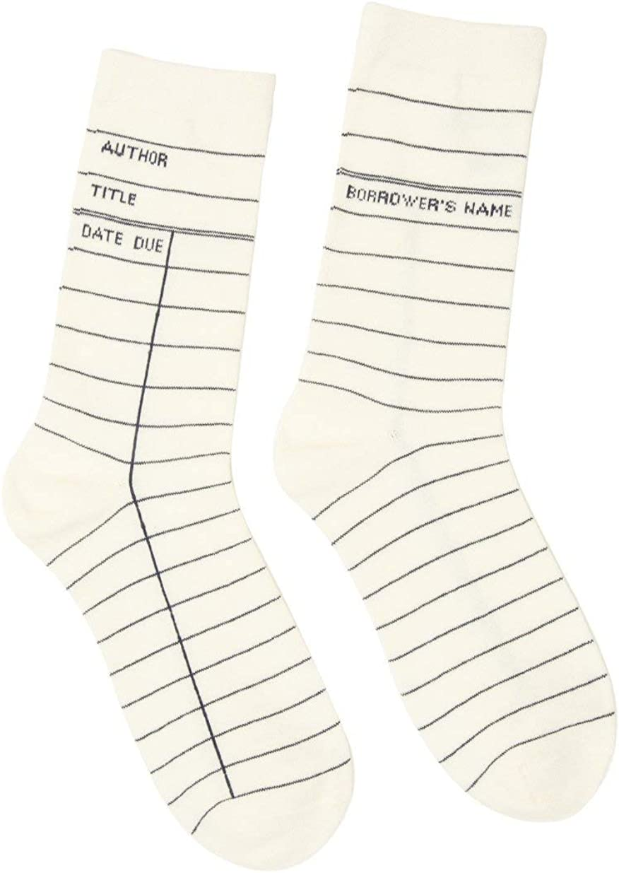 Literary and Book-Themed Unisex Cotton Socks