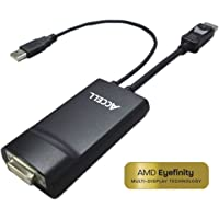 Accell DisplayPort to DVI-D Dual-Link Adapter - 36 bits color depth - AMD Eyefinity Technology validated - HDTV compatible - USB Powered - Supports Single-Link