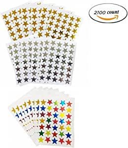 Gold eBoot Star Stickers 1750 Count Self-Adhesive Stickers Stars