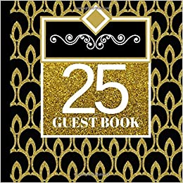 25 Guest Book 25th Birthday Celebration And Keepsake Memory Signing Message Party Invitations25th Decorations