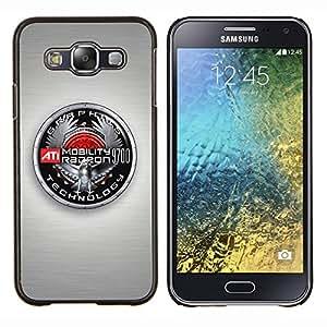 KLONGSHOP // Cubierta de piel con cierre a presión Shell trasero duro de goma Protección Caso - Insignia Gráficos - Samsung Galaxy E5 E500 //