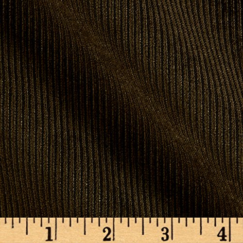 (Logantex, 10 Wale Polyester Corduroy Fabric by The Yard, Olive)