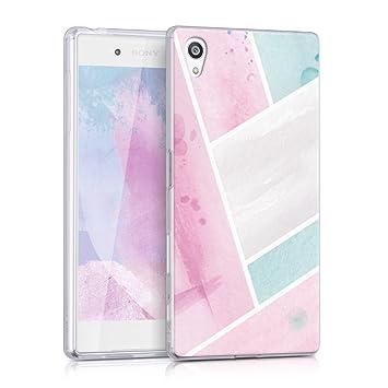 e103857d08 kwmobile Sony Xperia Z5 用 ケース - スマホカバー - 携帯 保護ケース 薄ピンク/ミント