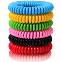 Mosquito Repellent Bracelets (12 Pack Individually Wrapped) Natural and Waterproof Wrist Bands for Adults, Kids, Pets…