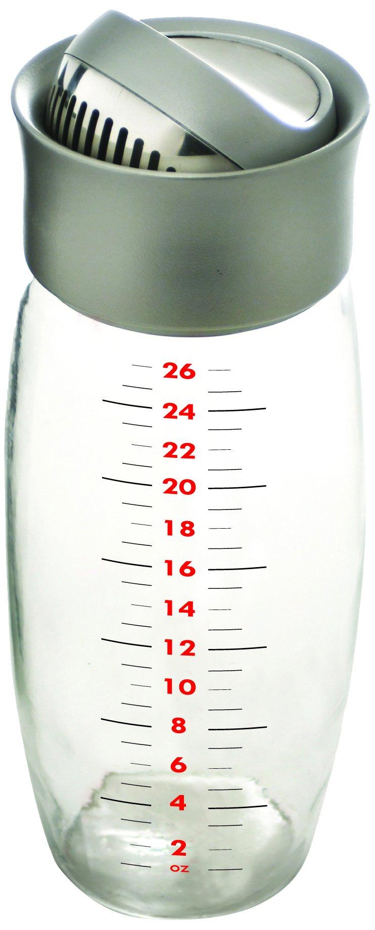 Metrokane Boston Flip-Top Cocktail Shaker, 26 Ounce by Metrokane