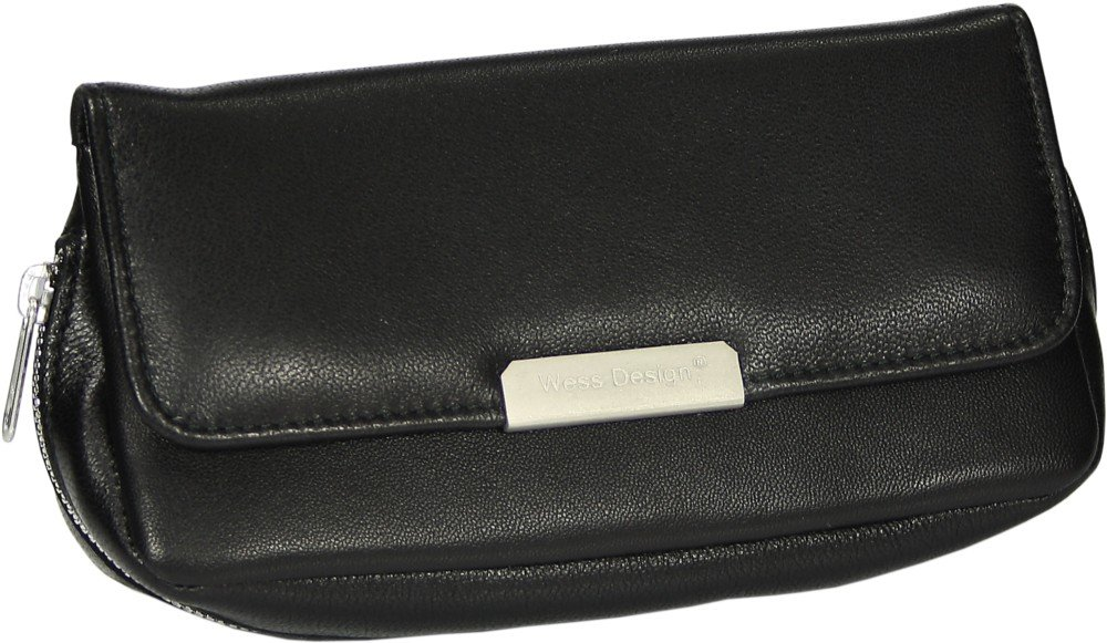 Martin Wess Germany ''Onyx'' Ultra Fine Nappa Leather 2 Pipe Combo Pouch