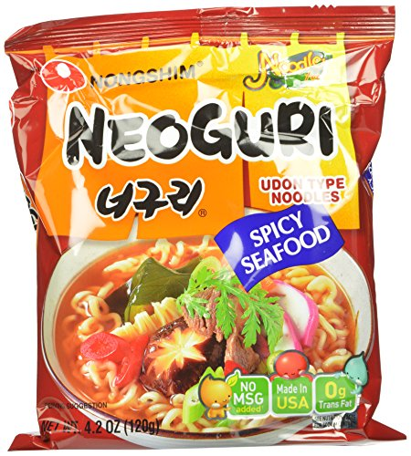 Nongshim Neoguri Noodles, Spicy Seafood, 4.2 Ounce (Pack of 16)