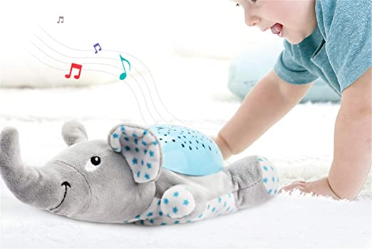 ELEGENCE-Z Lámpara de proyección, Elefante bebé Relajante música ...