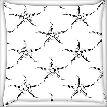 Gris estrella de mar patrón decoración del hogar Throw Sofá ...
