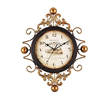 Mano Vintage Reloj de pared, decoración de pared Reloj de pared, Vintage Hierro forjado Reloj de pared salón decoración elegante stummscha ltuhr, ...
