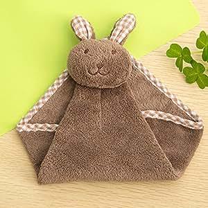 Bonita toalla de mano suave de dibujos animados, conejo, cocina, plato, tela