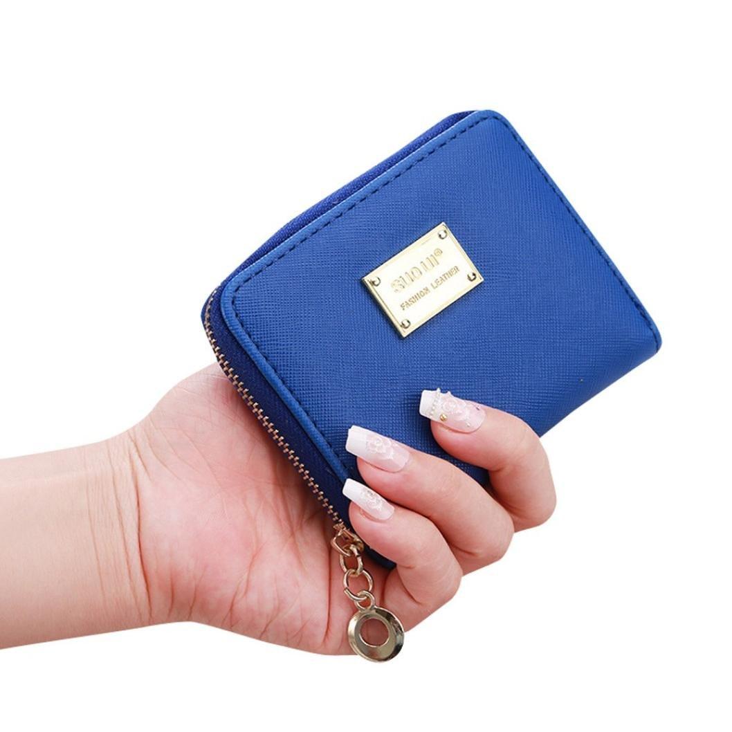 Hemlock Clutch Purse, Women Small Wallet Card Holder Zip Purse (Blue)