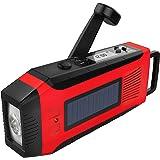 LED Solar Radio, Notfall-Handkurbel multifunktionale Notfallradio, AM/ FM/ NOAA dynamo radio eingebaute 2000mAh Powerbank