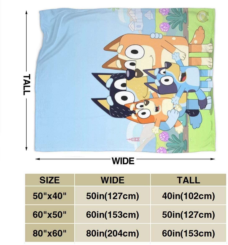 Lymknumb Bluey Dog Cartoon Ultra-Soft Micro Coperta in Pile Gettare Fuzzy Light Peluche Divano Letto Soggiorno