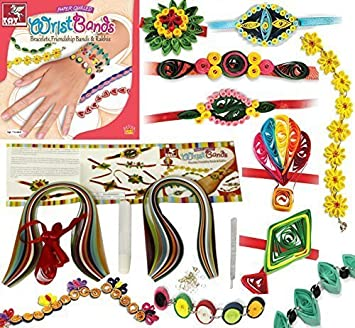 Girls Paper Quilling Bracelet Jewellery Making Kit Gift Set Birthday