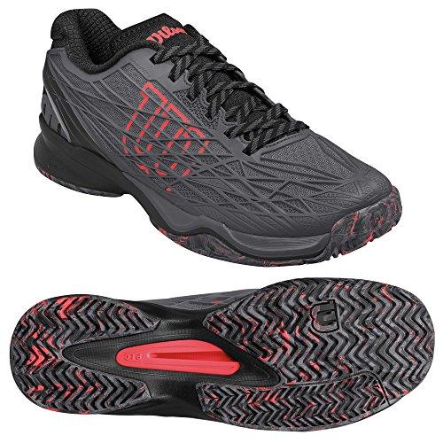 Wilson Kaos �?Zapatillas de tenis para hombre Gris (Ebony / Black / Fiery Coral)