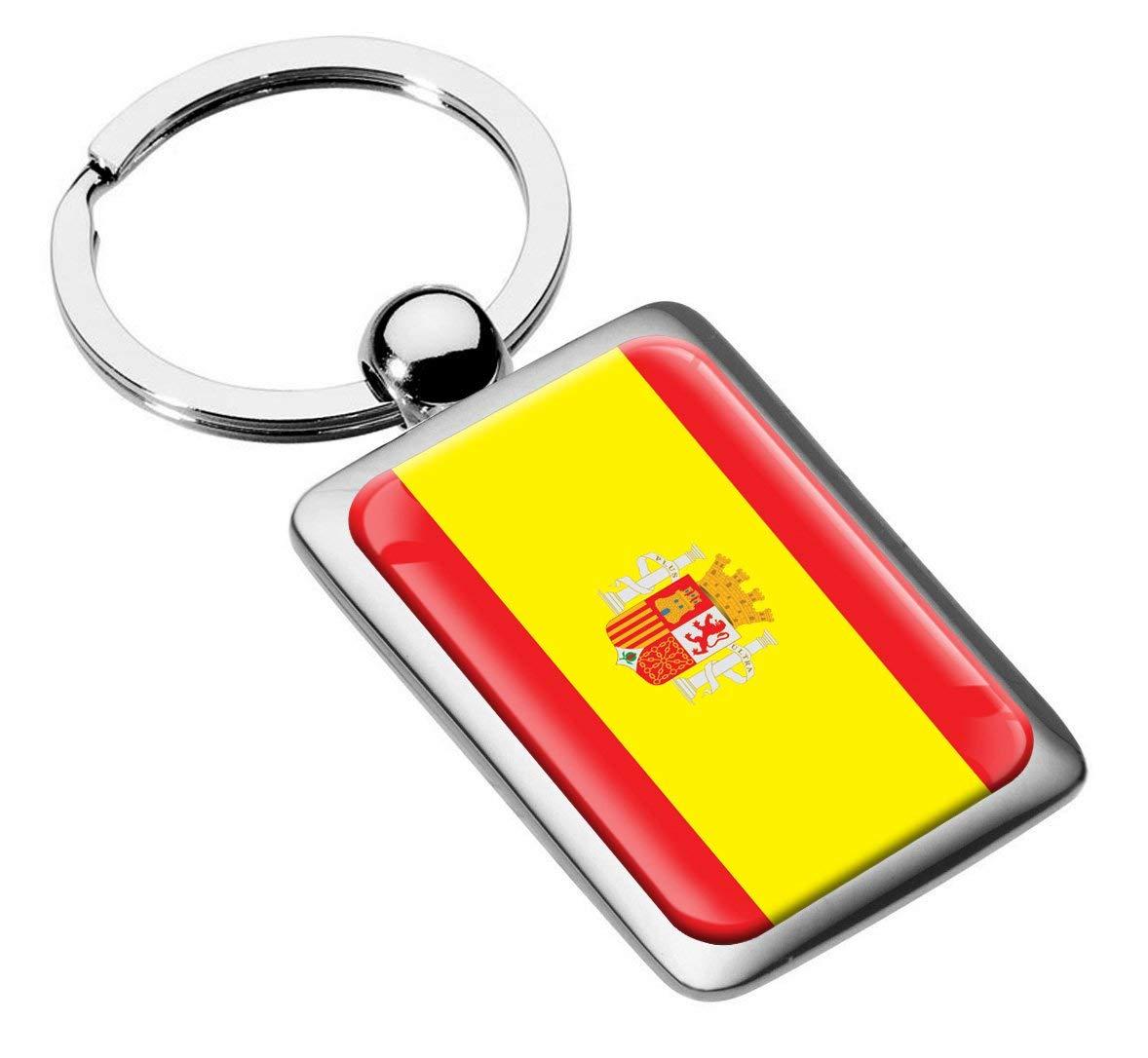 Skino Metal Silicone Keyring Key Chain Ring Spain Spanish Flag Car Moto Keychain Man Women Gift KK 215 /…