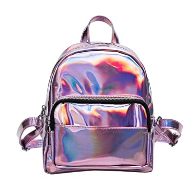 d257f4b41b best OULII Girl s Laser Hologram Backpack Casual Satchel Mini Hologram School  Bag Shoulder Bag for Travel
