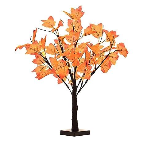 LEDMOMO Luces de rama Luz de árbol de arce Lámpara de árbol ...