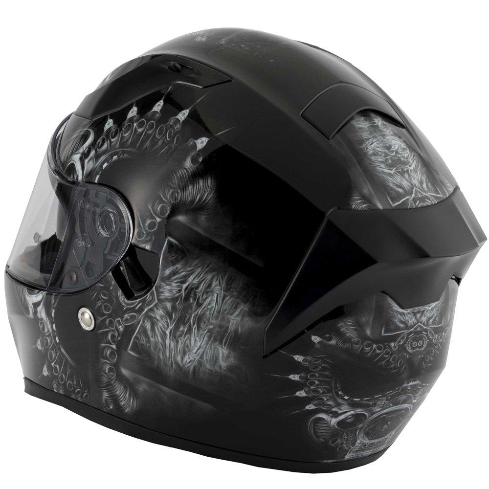 /Drogon Vcan V128/Full Face ACU DVS Moto Bike Crash casque Couvercle/