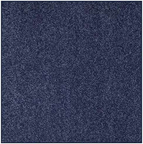 Bright House Solid Color Area Rug Petrol Blue, 12 Square
