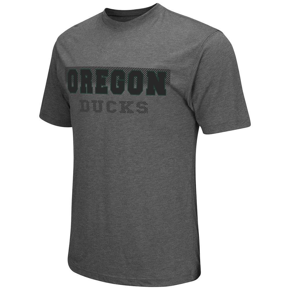 メンズNCAA Oregon Ducks半袖Tシャツ( Heather Charcoal ) B06WWKJ1L6   Medium