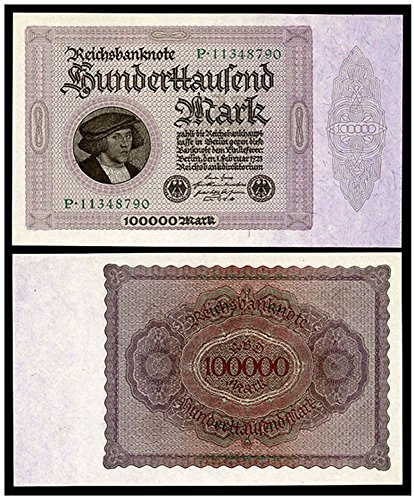 DE 1923 LARGEST MOST FAMOUS GERMAN INFLATION BANKNOTE! WE CALL IT THE PURPLE PRINZ! FLAWLESS! Gem Crisp Uncirculated