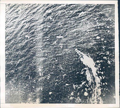 Vintage Photos 1943 Photo WW2 German U Boat Speed London England Bombs RAF Coastal Command