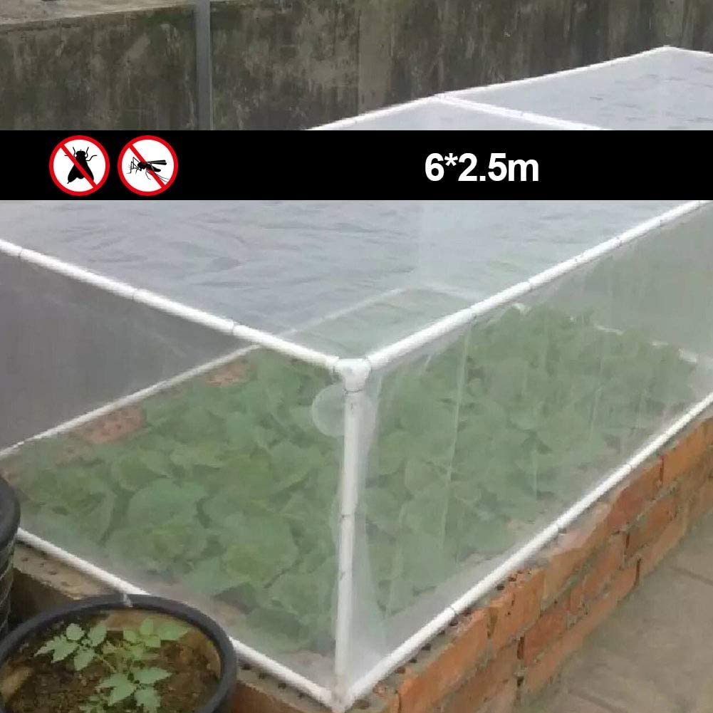 Anti Insect and Anti Birds Net Insect Protection Net Fine Mesh for Tunnel Fruits and Vegetables in the Garden Flowers Barrier to Protect Plants 10x2.5m 1pc