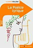 La Poésie lyrique