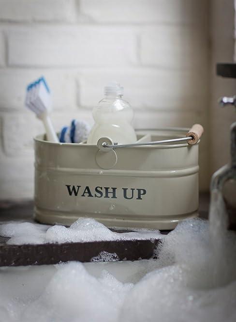 Kitchen sink enamel washing up sink tidy - shabby chic vintage ...