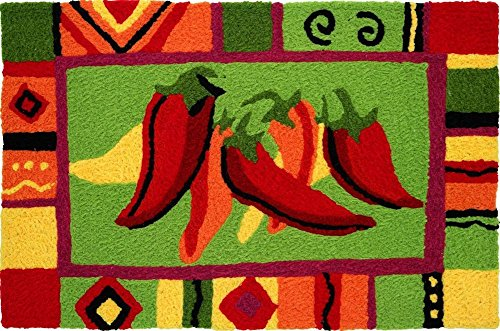 Jellybean Area Accent Rug Red Hot Chili Peppers (Pepper Rug Chili)