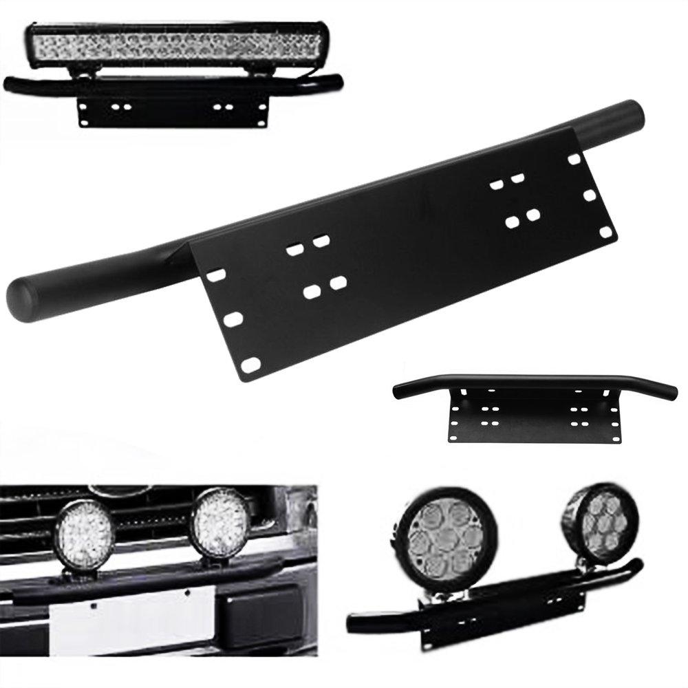 LED Light Bar Support De Montage Auto Avant Bumper Plaque Dimmatriculation Support De Lampe en Aluminium Bull Bar Support pour Style de Conduite
