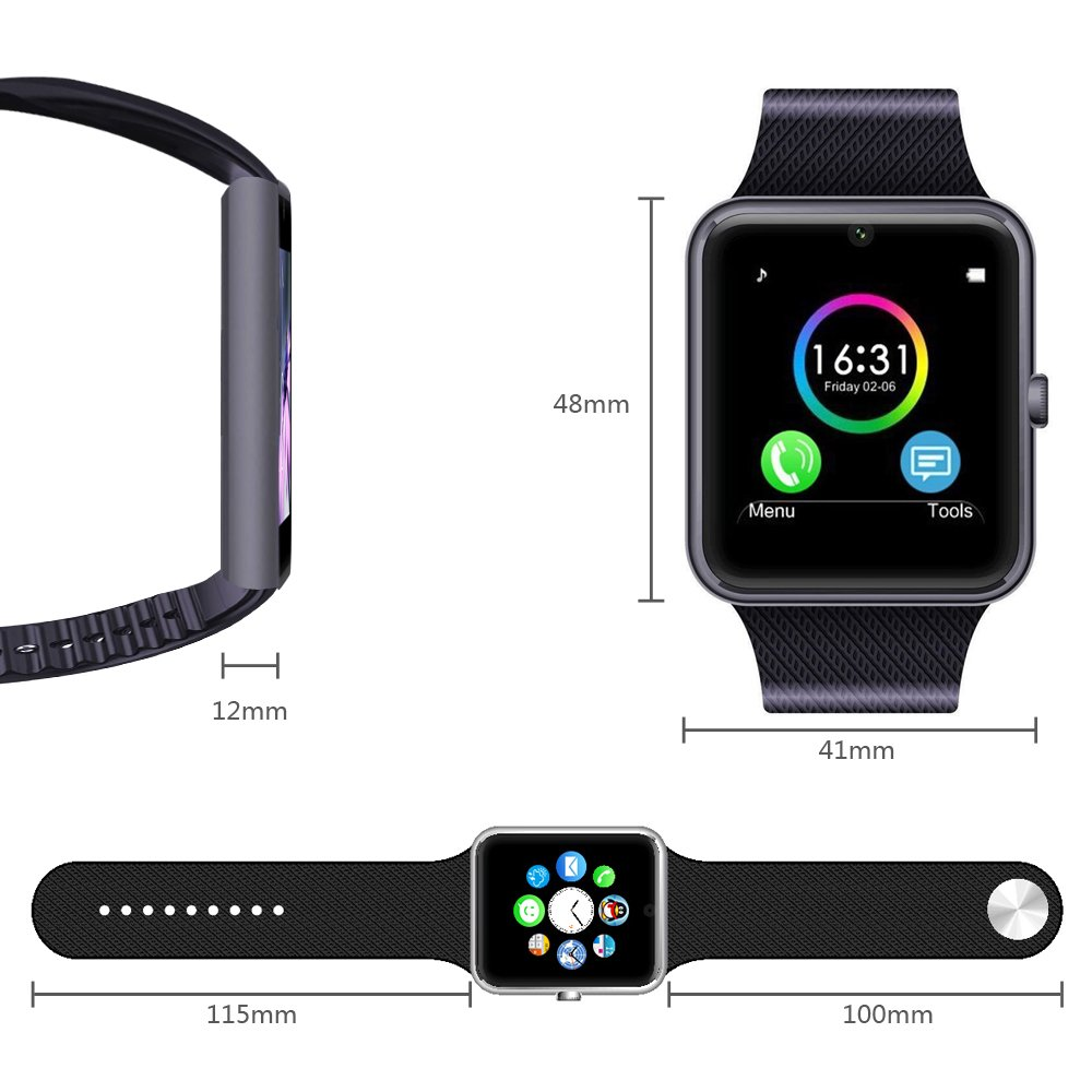 2ee5fcfbf5d MSRMUS Smart Watch Compatible for Iphone 5s 6 6s 7 7s and Android ...