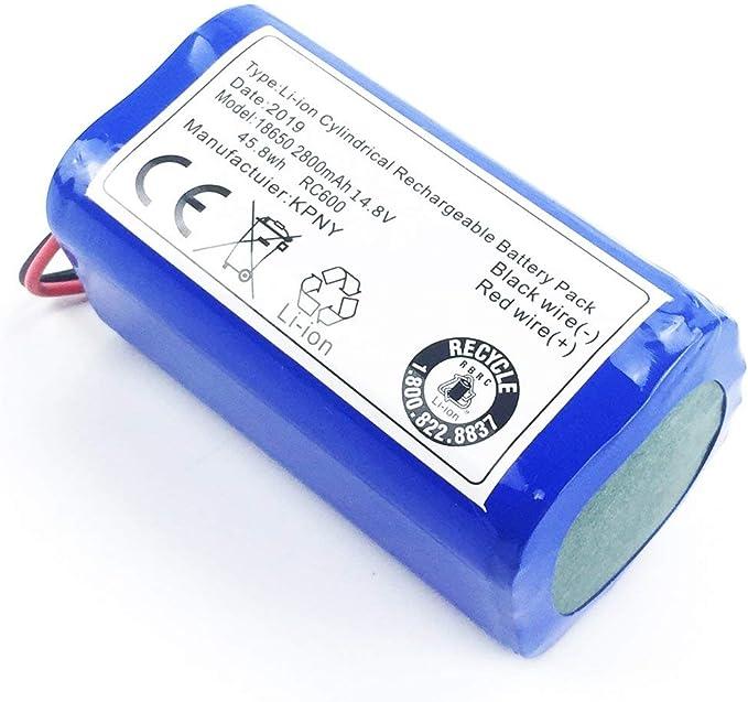 LouiseEvel215 14.8 V 2800 Mah Robot Aspirador Reemplazo de batería ...