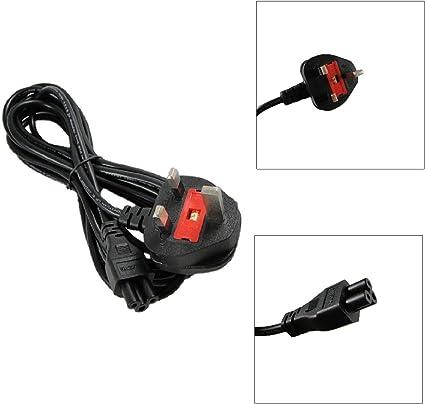 Cable de alimentación C5 CloverLeaf de 1,5 m, 3 clavijas, para ...