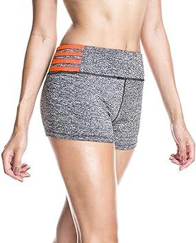 Amazon.com: Womens High Waist Sports Shorts Yoga Capri Short ...