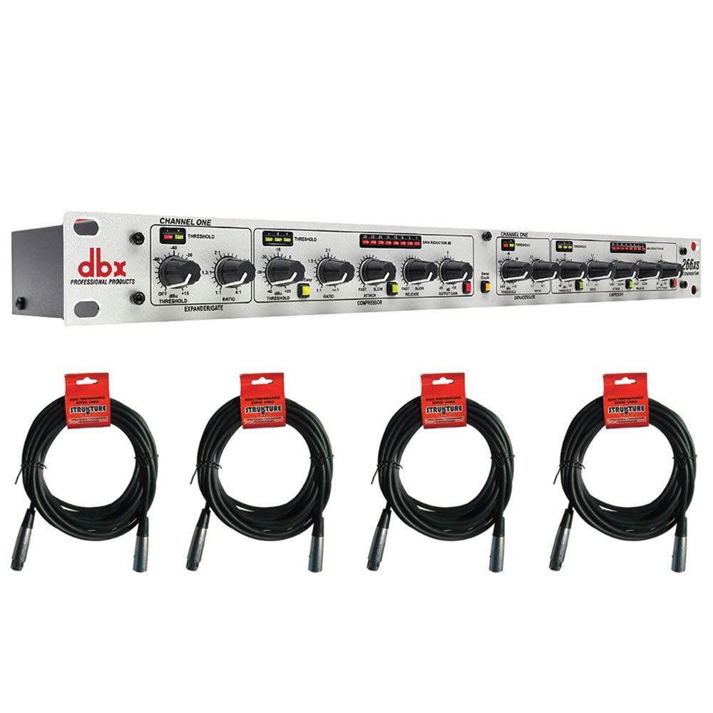 dbx 266xs - Compressor/Gate with (4) XLR- XLR Cable