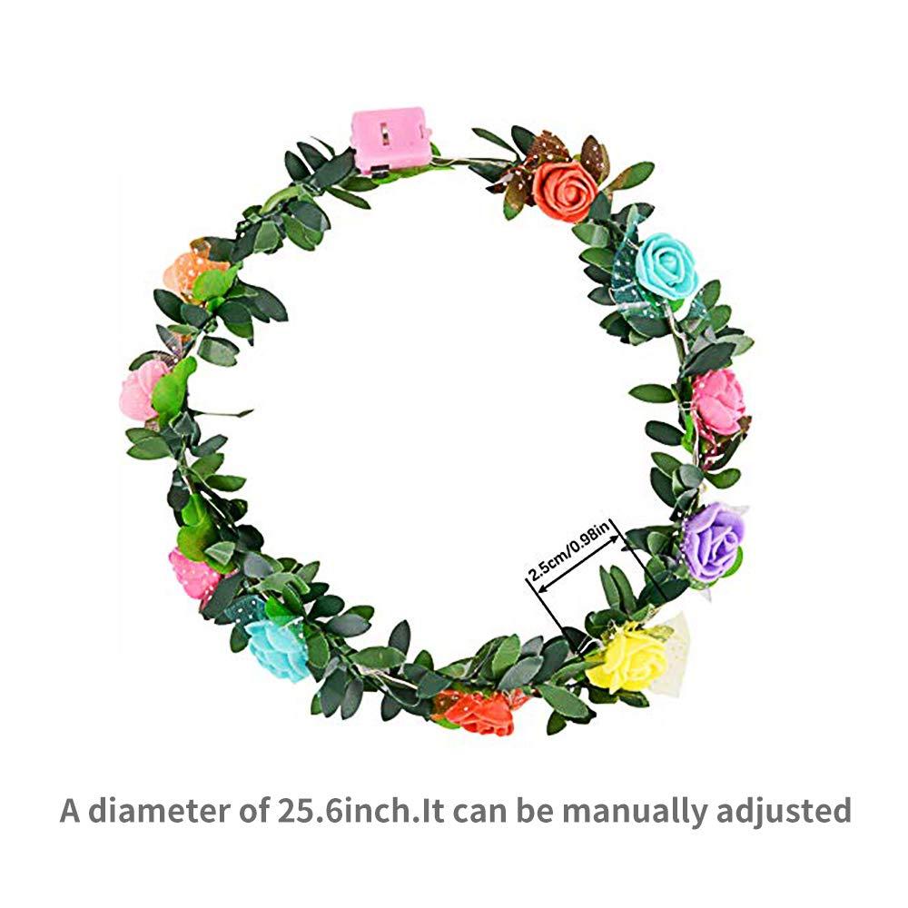 Amazon.com: Siwo LED Flower Headbands.15 Pcs Led Flower ...
