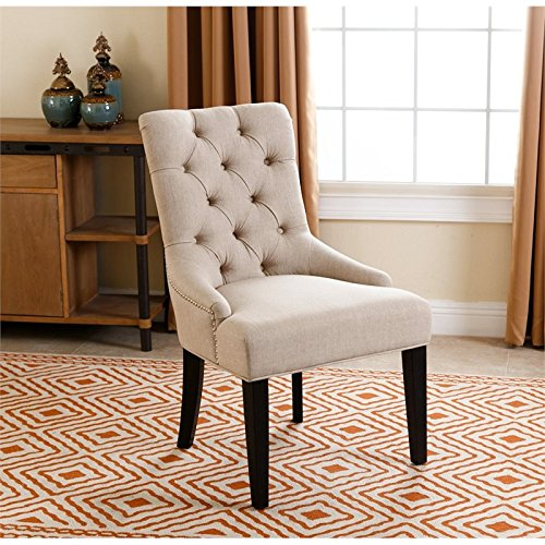 abbyson living addison dining chair in cream - Dining Chairs In Living Room