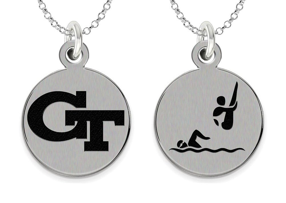 College Jewelry Georgia Technology Yellow Jackets Swimming and Diving Charm